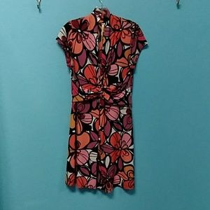 Uncle Frank floral print cap sleeve knit dress S